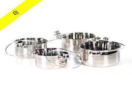 Набір каструль Zurrichberg Kochgeschirr ZBP-7004 набір посуду 8 предметів швейцарської якість