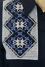 жіноча сорочка з вишивкою і перлинками із штапеля, фото 3