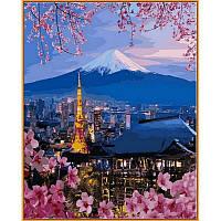 """Картина по номерам, картина-раскраска """"Йокогама и гора Фудзияма"""" 40Х50см NB1112"""