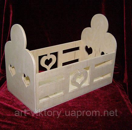 Короб с сердечком (15,5 х 29,5 х 21 см), фото 2