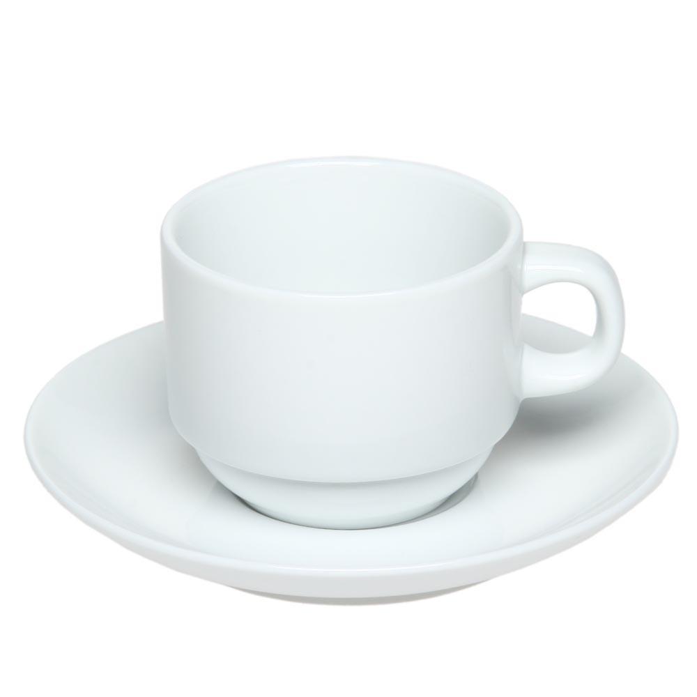 Чашка с блюдцем Дует (Белый)