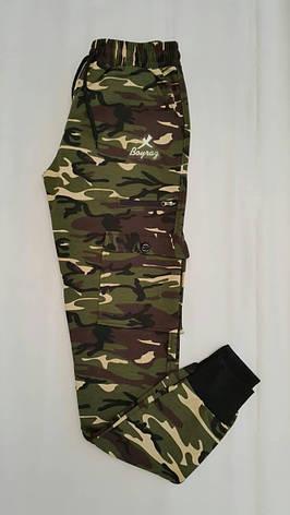 Спортивные штаны карго камуфляжные для мальчиков 170,176,180 роста Хаки, фото 2