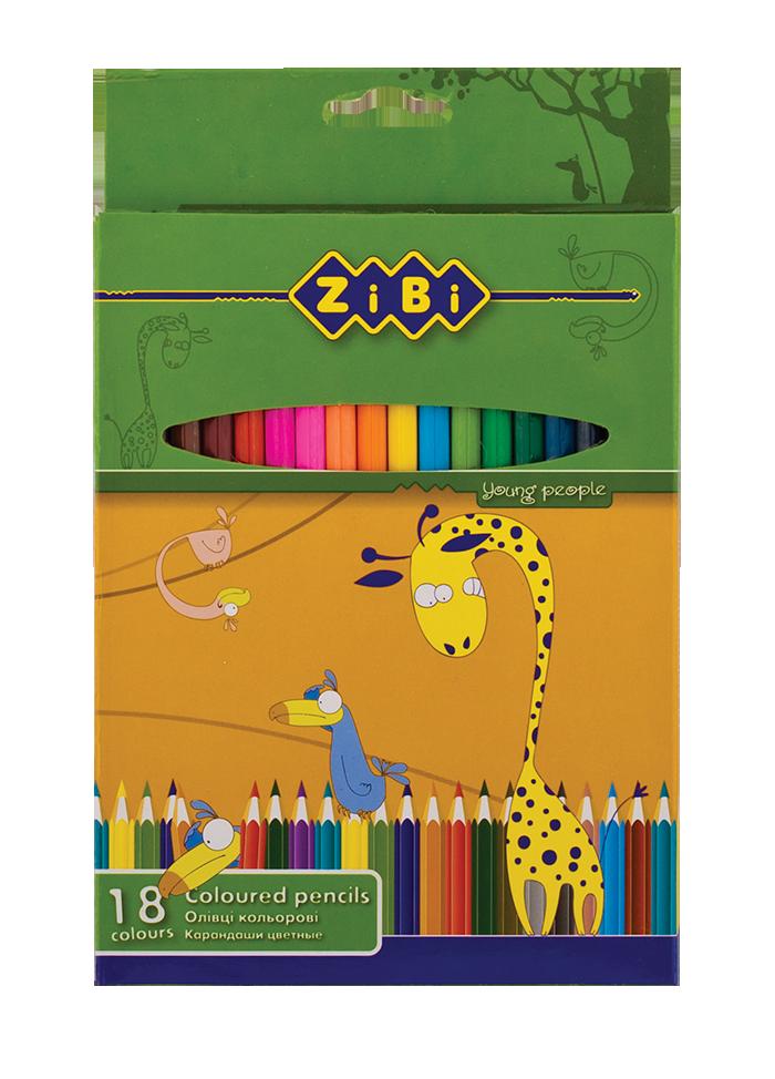 Кольорові олівці, 18 кольорів, STANDARD