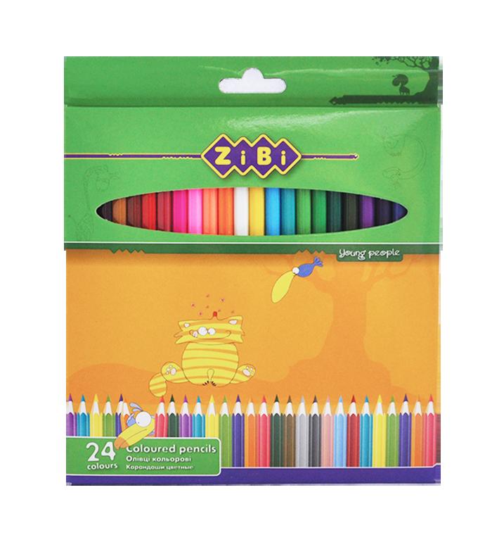 Кольорові олівці, 24 кольори, STANDARD