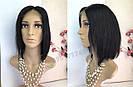 💎 Женский парик на сетке, каре из натуральных волос, чёрный 💎, фото 2