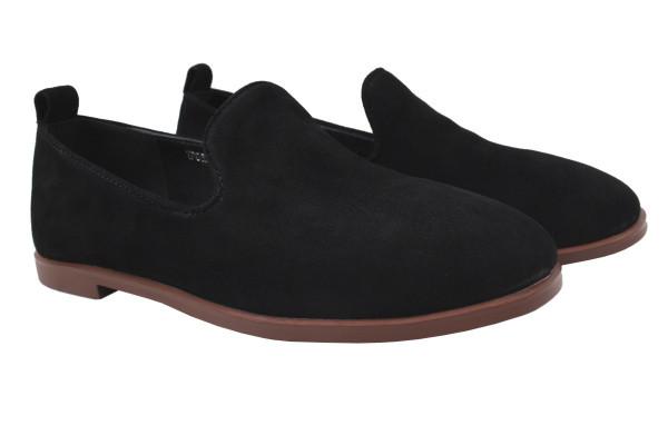 Туфли комфорт женские на низком ходу Reuchll натуральная замша, цвет черный (40р.)
