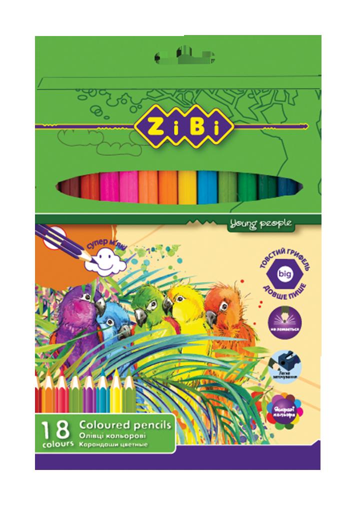 Олівці кольорові SOFT, 18 кольорів