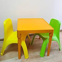 Набор детской пластиковой мебели - стол и 2 стула. (ОРАНЖЕВЫЙСТОЛ) Украина