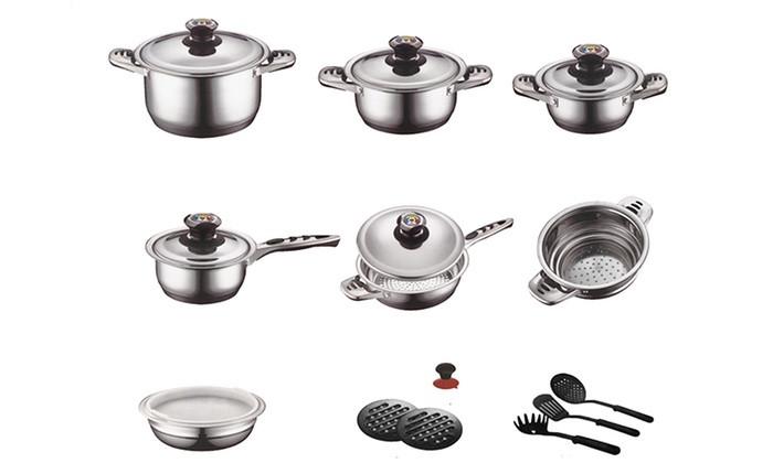 Набор для кухни посуда Zurrichberg DELUXE  ZBP - 8012 Набор посуды кухонный 19 предметов