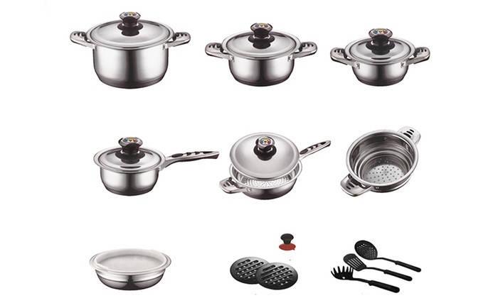 Набор для кухни посуда Zurrichberg DELUXE  ZBP - 8012 Набор посуды кухонный 19 предметов, фото 2