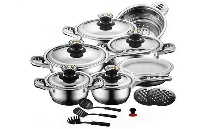 Набір для кухні посуд Zurrichberg DELUXE ZBP - 8012 Набір посуду кухонний 19 предметів, фото 2