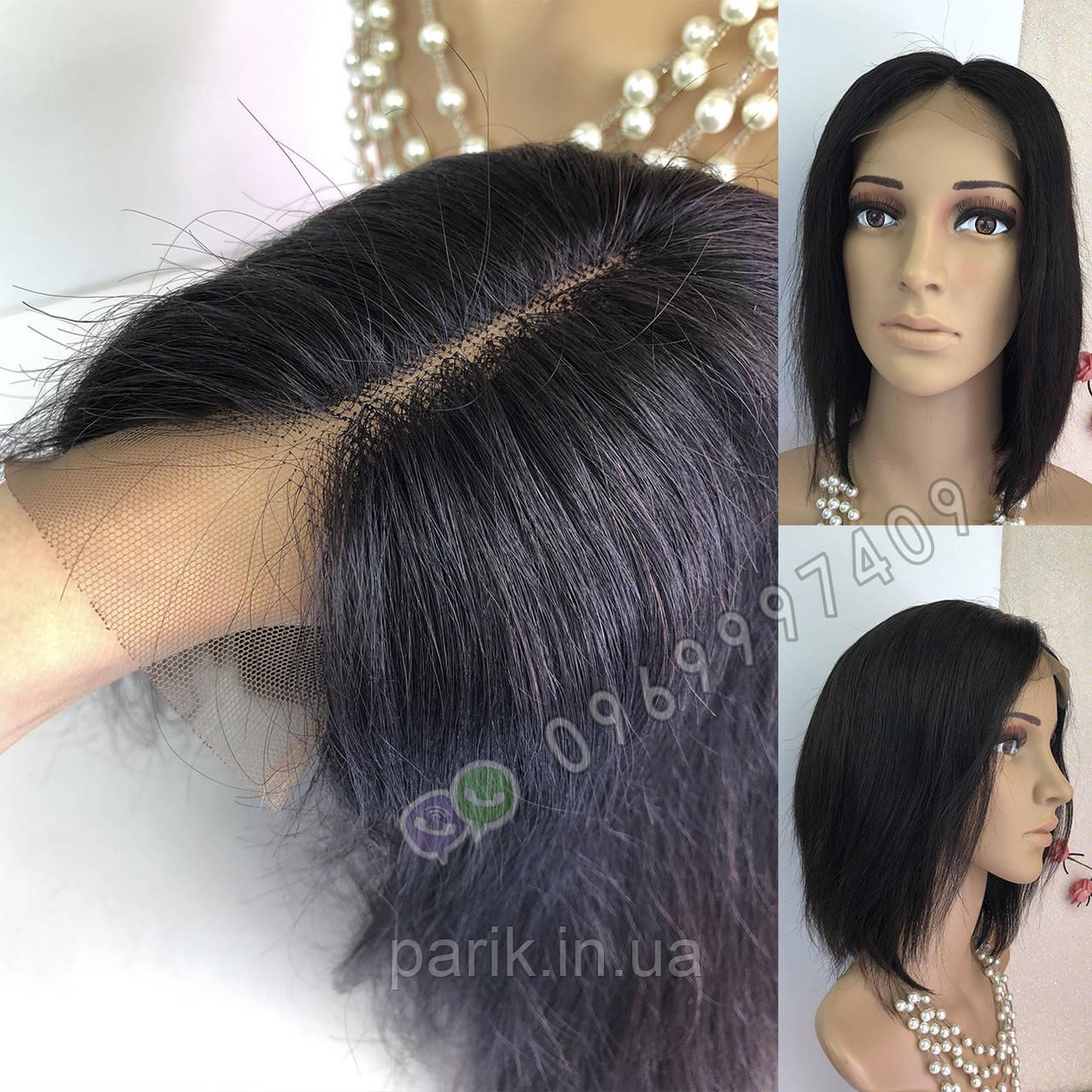 💎 Чёрное каре на сетке, натуральный волос 💎