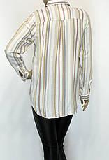 жіноча сорочка в полоску з вишивкою і стразами, фото 2