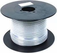 Трос (канат стальной) DIN 3055 6х7+FS, в ПВХ оболочке