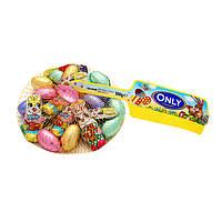 Шоколад молочный (конфеты шоколадные) яйца и зайчики цветные  Onli Австрия 100г
