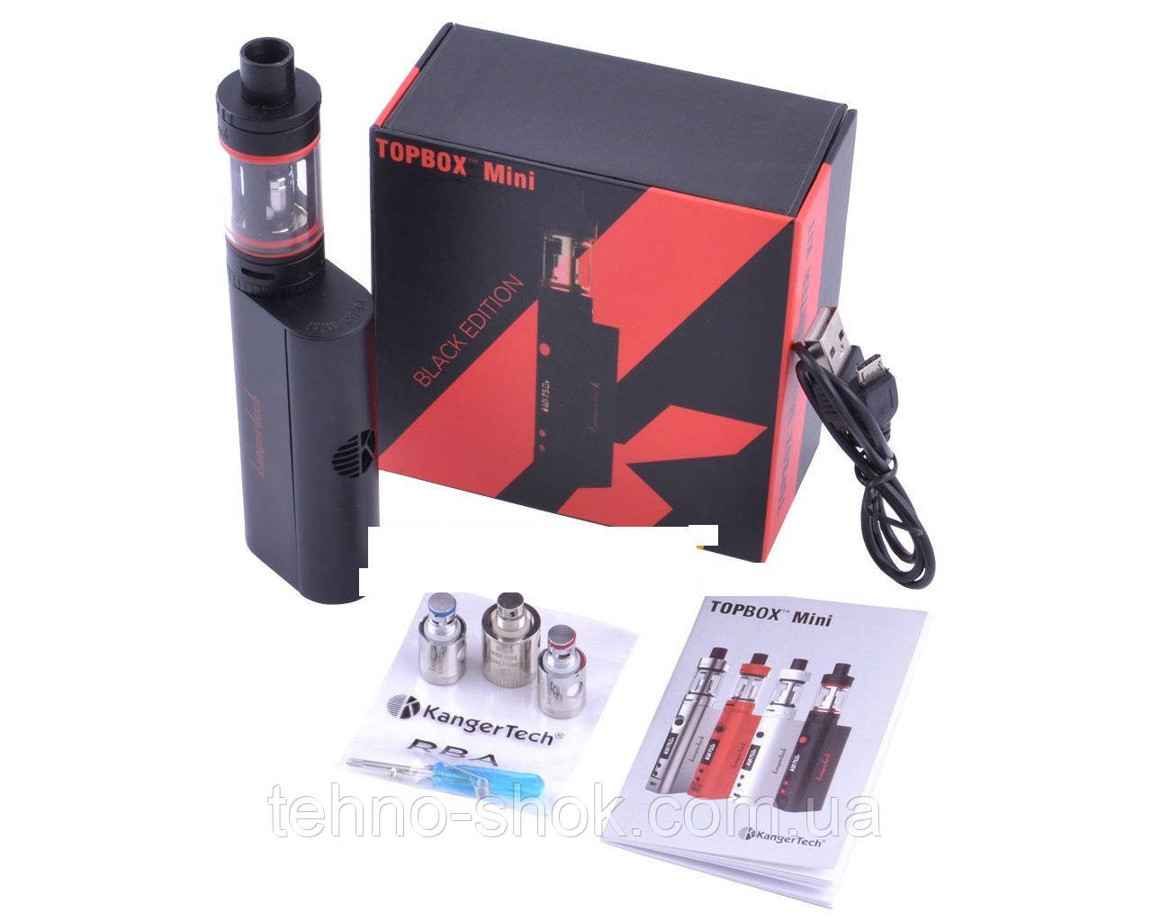 Электронная сигарета Бокс-Мод Kanger Tech TOPBOX Mini Starter Kit, Black Edition
