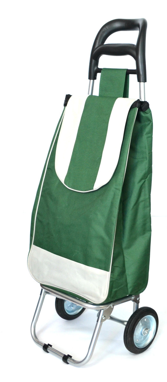Хозяйственная сумка тележка Xiamen с железными колесами Shoping green (0031)
