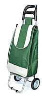Хозяйственная сумка тележка Xiamen с железными колесами Shoping green (0031), фото 1