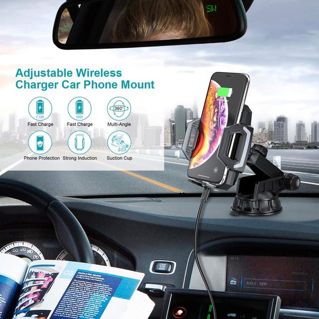 Беспроводное зарядное устройство  крепление автодержатель для автомобиля