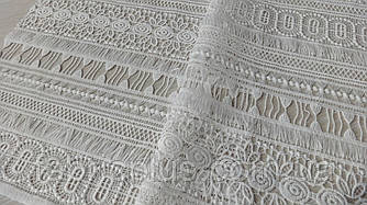 Кружево  белое  орнамент