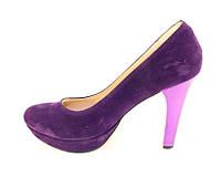 Туфли женские фиолетовые, на шпильке