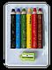 Кольорові олівці mini SUPER JUMBO, з чинкою 6 кольорів, трикутні, фото 2