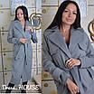 Кашемировое Пальто женское длиной миди под пояс классика 5pt169, фото 3