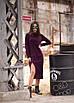 Ангоровое прямое платье миди с разрезом на ноге 27py2442, фото 5
