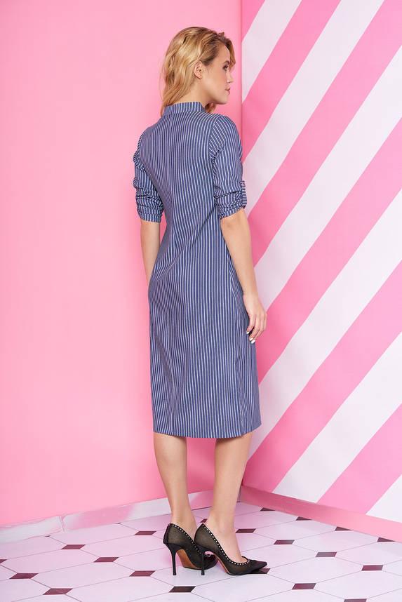 Повседневное платье в полоску прямого кроя, фото 2