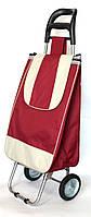 Хозяйственная сумка тележка Xiamen с железными колесами Shoping burgundy (0038), фото 1