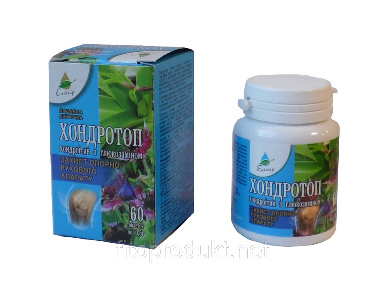 Хондротоп БАД хондроитин с глюкозамином №60 Эликсир