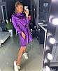 Шелковое платье-рубашка под пояс с длинным рукавом 18py2449, фото 2