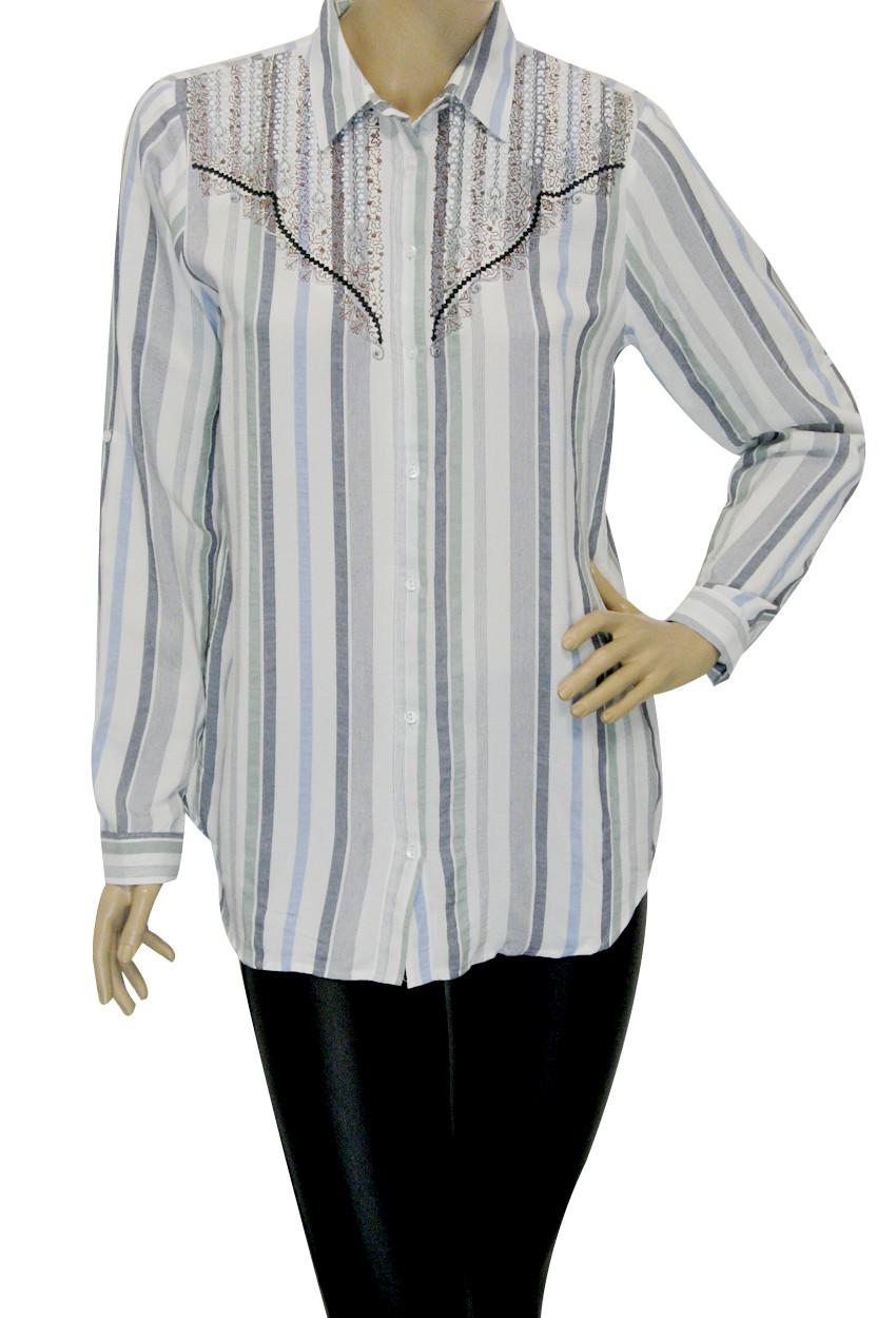Жіноча сорочка в полоску