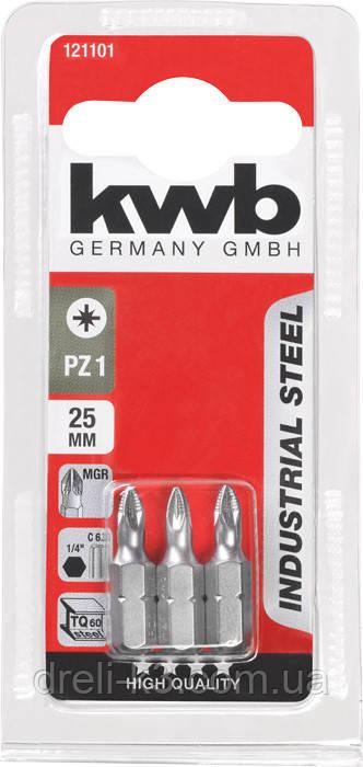 Биты PZ3 25 мм 3 шт KWB