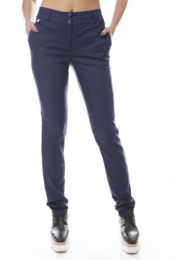 Женские прямые брюки коттон с карманами 47bu325