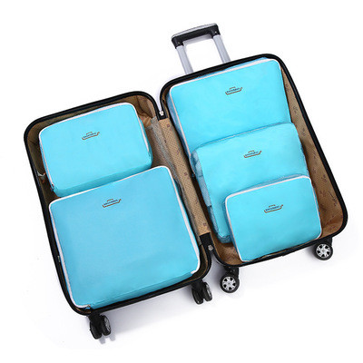 Набор органайзеров в чемодан семейный из 5 предметов Genner бирюзовый 01005/03