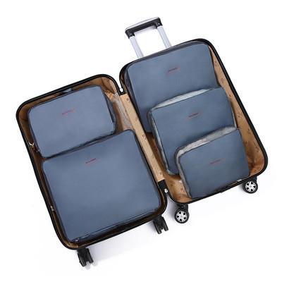 Набор органайзеров в чемодан семейный из 5 предметов Genner серый 01005/04, фото 1