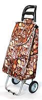 Хозяйственная сумка тележка Xiamen с железными колесами Shoping brown spoon (0037)