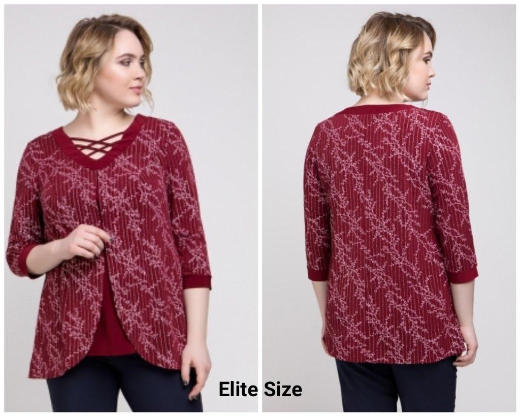 Женская блуза из микромасла в больших размерах 6ba1475