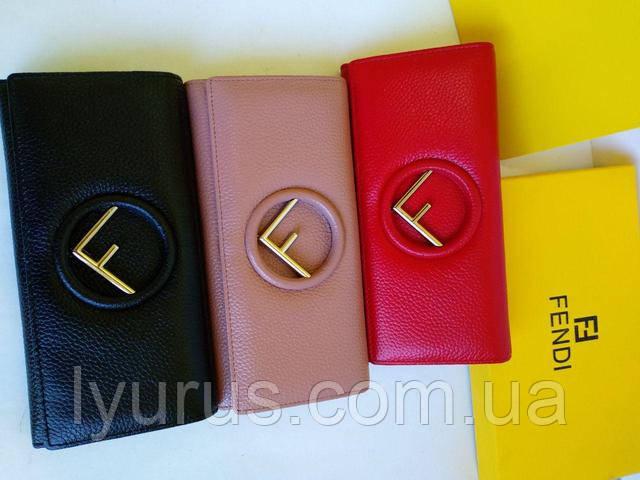 3e6073d66dec Женский кожаный кошелёк Fendi красного цвета : продажа, цена в ...