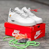 Мужские кроссовки Nike Air Force 1 Low Off-White. Кожа, фото 1