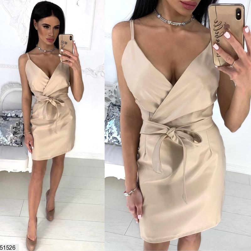 1ea116e608e Платье Женское Летнее Модное Экокожа 42-46 Размеров
