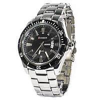 Мужские часы CURREN 8110 Silver влагозащищенный нержавеющий корпус кварцевый механизм точный ход