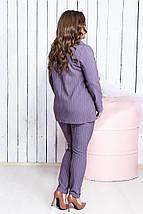 """Деловой женский костюм в полоску """"Polaire"""" с пиджаком (большие размеры), фото 2"""