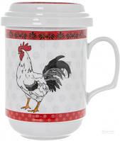 Чашка с заварником Красный петух 300 мл 69-036
