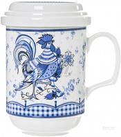 Чашка с заварником Синий петух 300 мл 69-037