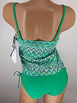 Купальник с юбкой Топ зелёный 5141 на 42 44 46 48 50 размеры. , фото 2