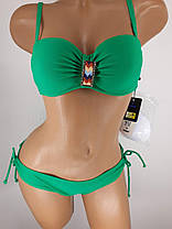 Купальник с юбкой Топ зелёный 5141 на 42 44 46 48 50 размеры. , фото 3