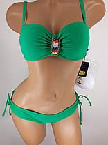 Купальник з спідницею Топ зелений 5141 на 42 44 46 48 50 розміри., фото 3