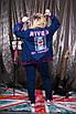 Женский джинсовый костюм в больших размерах с вставками 10ba1485, фото 3